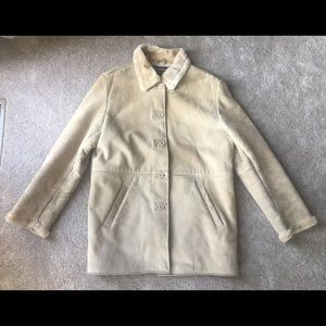 Dimension New York Size XL Tan Fur Trench Coat